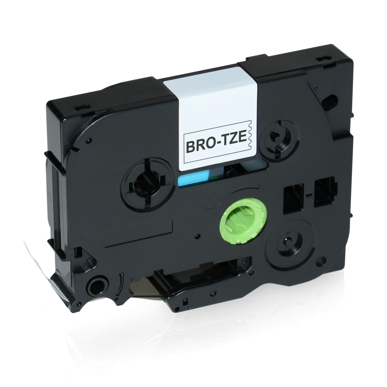 Brother TZEFX221 P-Touch Farbband schwarz auf weiss Laminat 9mm x 8m Kompatibel