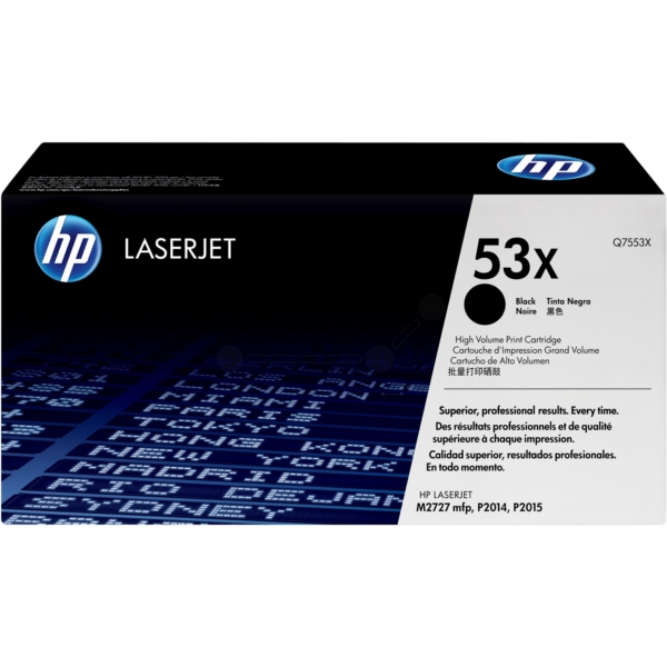 Original HP Q7553X / 53X Toner black