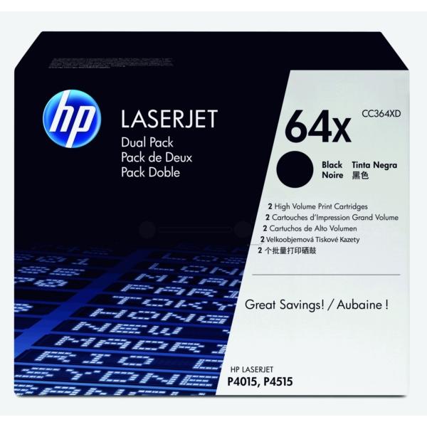 Original HP CC364XD / 64XD Toner schwarz