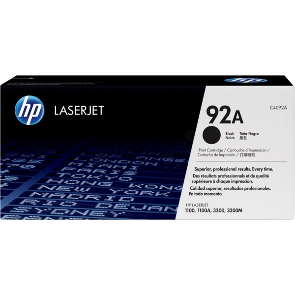 Original HP C4092A / 92A Toner black