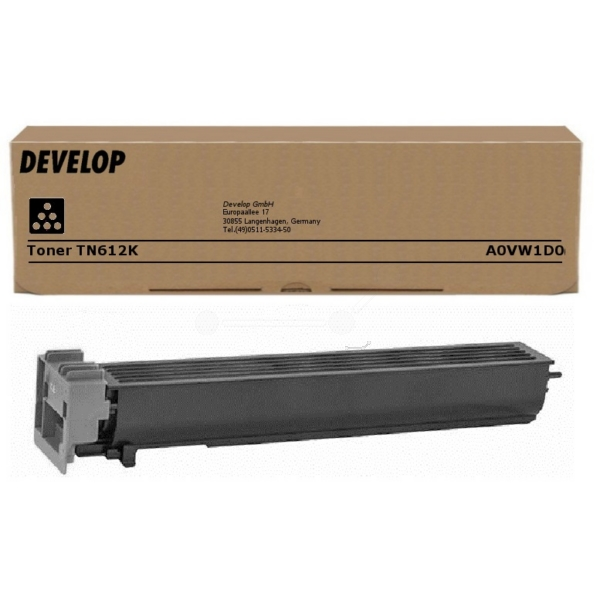 Original Develop A0VW1D0 / TN612K Toner schwarz