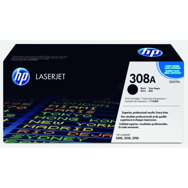 Original HP Q2670A / 308A Toner schwarz