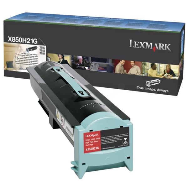 Original Lexmark X850H21G Toner schwarz