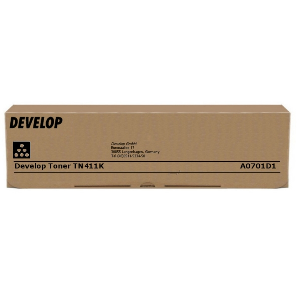 Original Develop A0701D1 / TN411K Toner schwarz