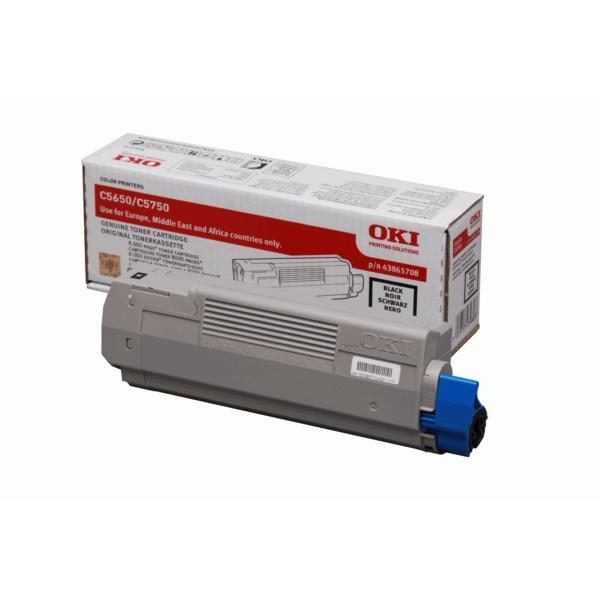 Original OKI 43865708 Toner schwarz