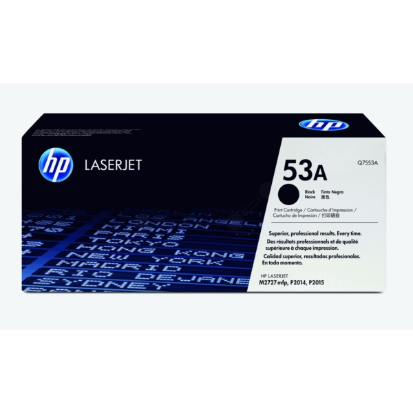 Original HP Q7553A / 53A Toner black