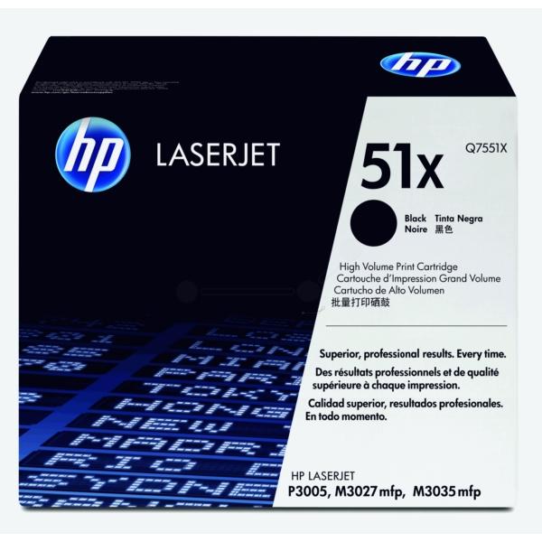 Original HP Q7551X / 51X Toner schwarz
