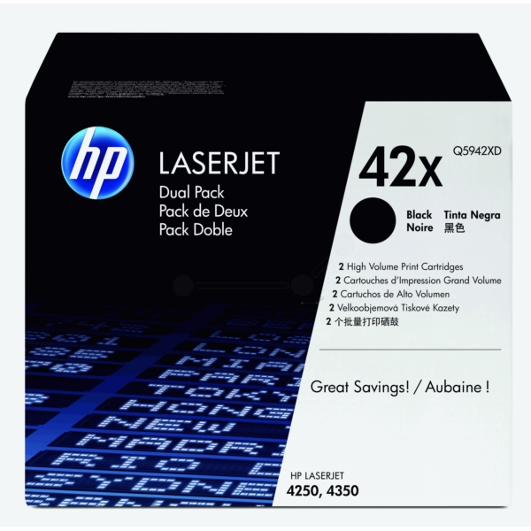 Original HP Q5942XD / 42XD Toner black