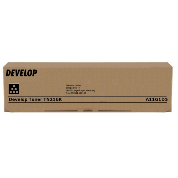 Original Develop A11G1D1 / TN216K Toner schwarz