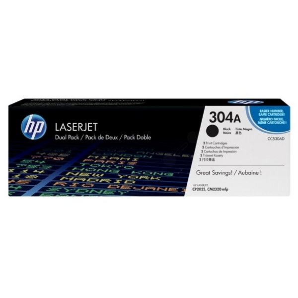 Original HP CC530AD / 304A Toner black