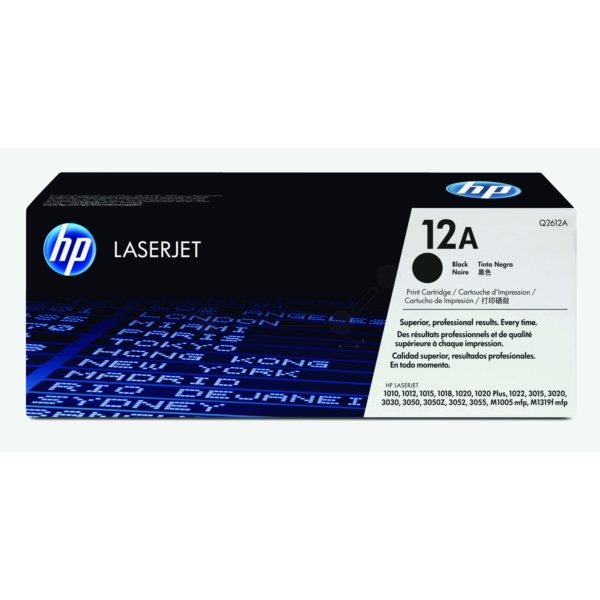 Original HP Q2612A / 12A Toner black