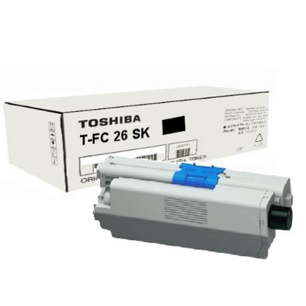 Original Toshiba 6B000000374 / TFC26SK Toner schwarz