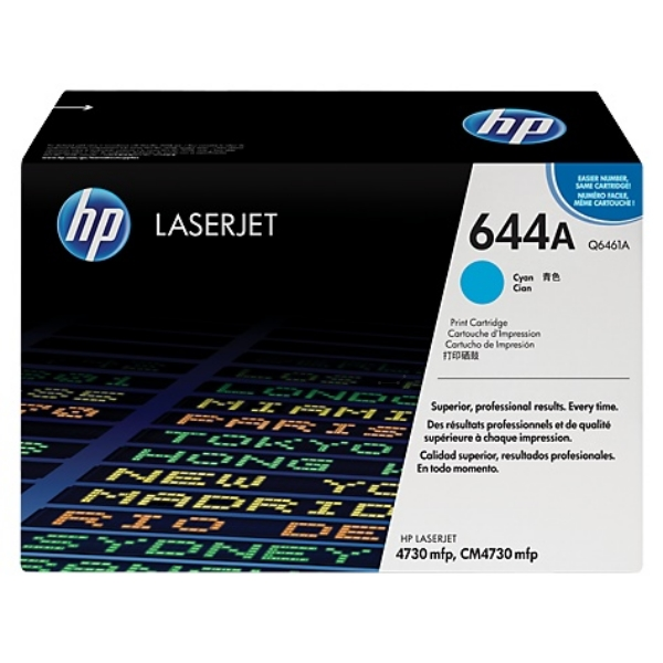 Original HP Q6461A / 644A Toner cyan