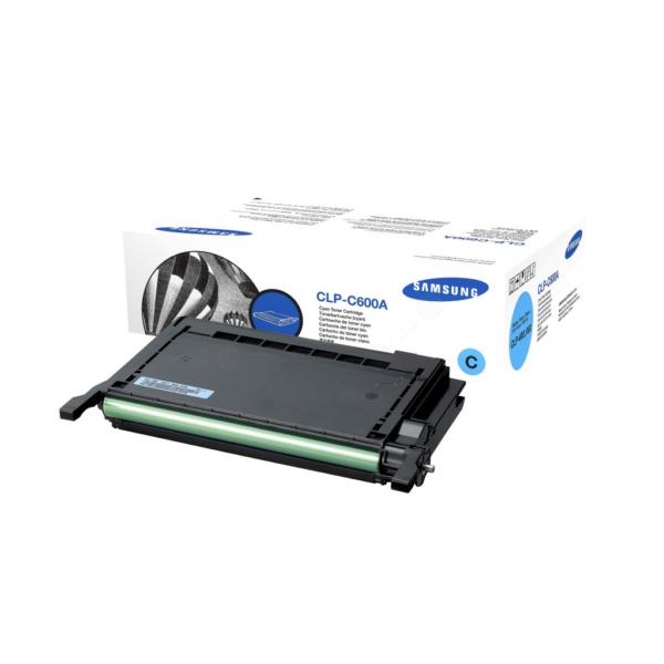 Original Samsung CLPC600AELS Toner cyan