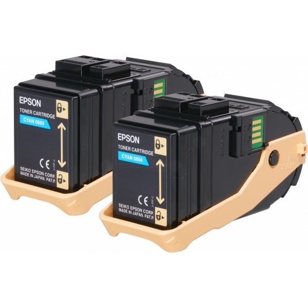 Original Epson C13S050608 / 0604 Toner cyan