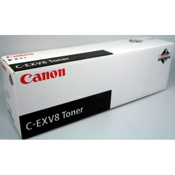 Original Canon 7628A002 / CEXV8 Toner cyan