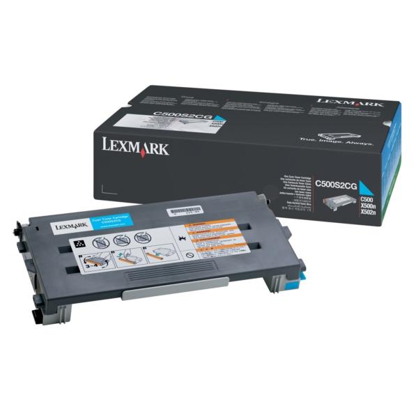 Original Lexmark C500H2CG Toner cyan