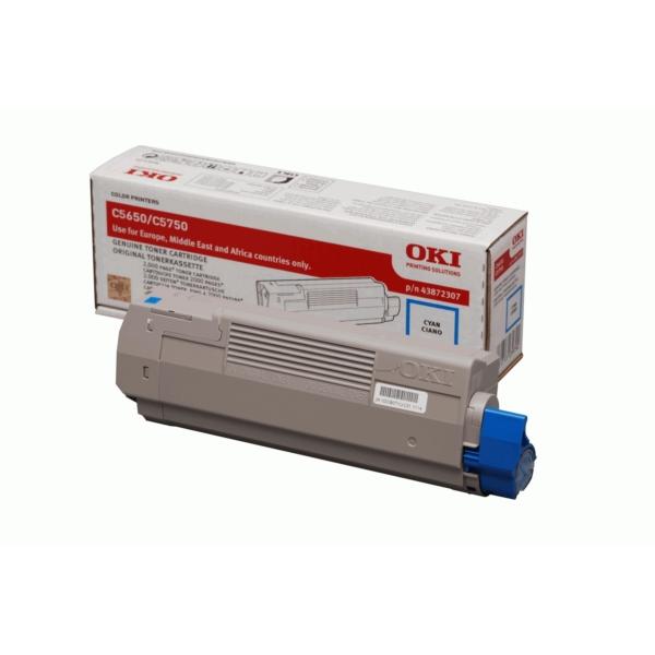 Original OKI 43872307 Toner cyan