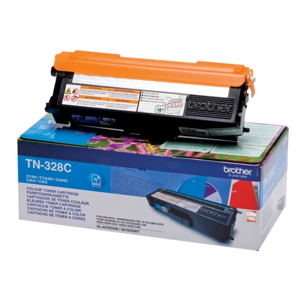 Original Brother TN328C Toner cyan