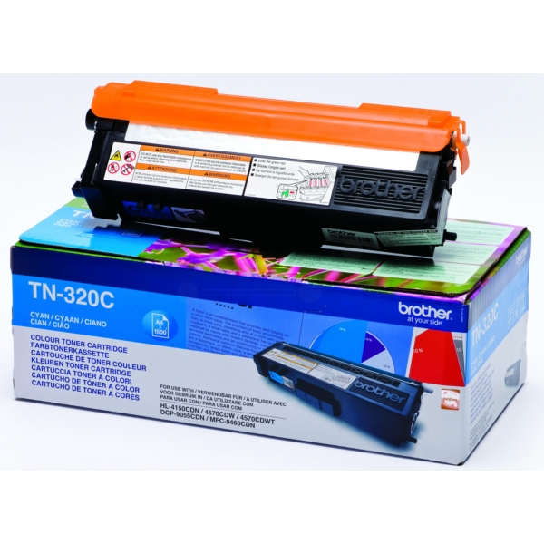 Original Brother TN320C Toner cyan