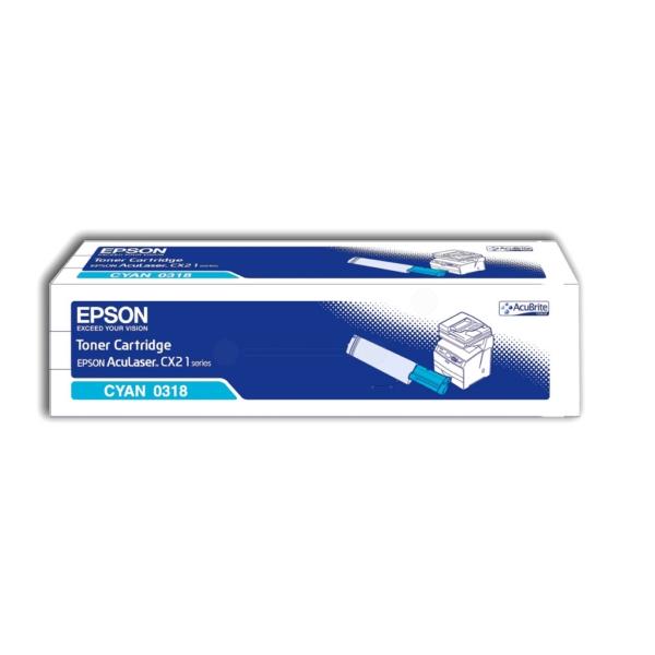 Original Epson C13S050318 / 0318 Toner cyan