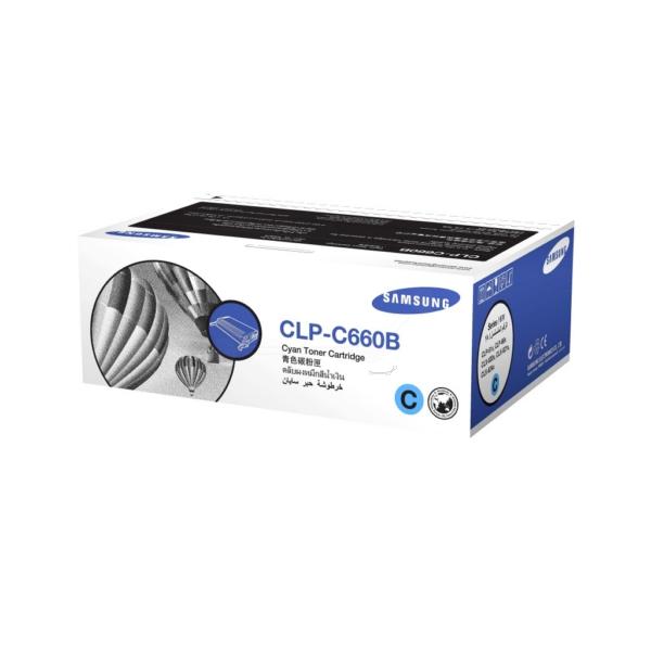 Original Samsung CLPC660BELS / C660 Toner cyan