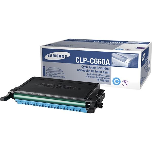 Original Samsung CLPC660AELS Toner cyan