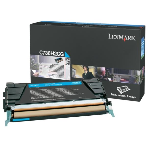 Original Lexmark C736H2CG Toner cyan