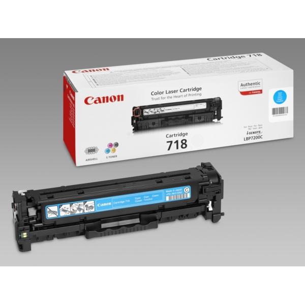 Original Canon 2661B002 / 718C Toner cyan