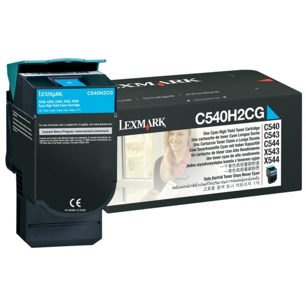 Original Lexmark C540H2CG Toner cyan