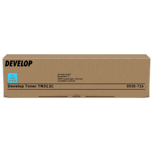 Original Develop 8938716000 / TN312C Toner cyan