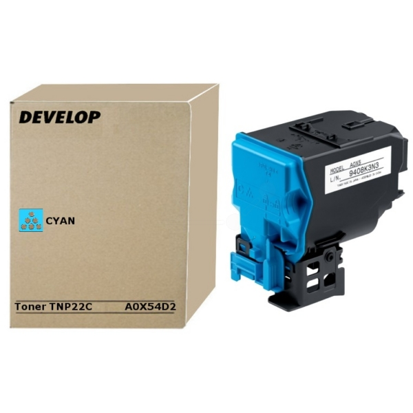 Original Develop A0X54D2 / TNP22C Toner cyan