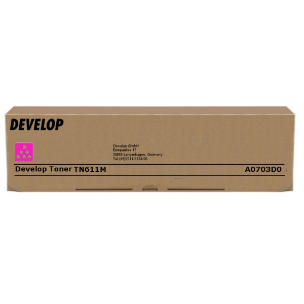 Original Develop A0703D0 / TN611M Toner magenta