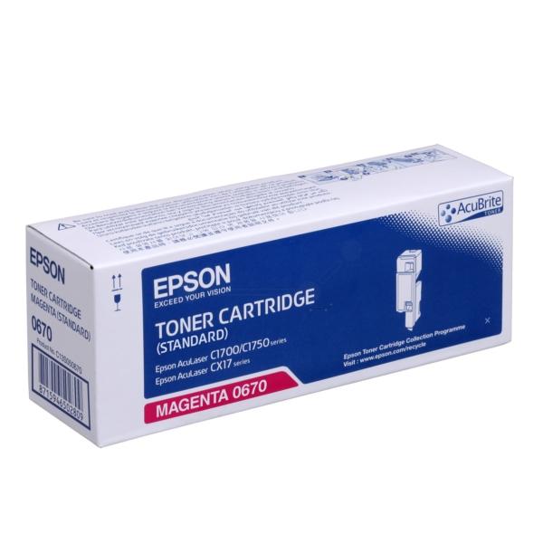 Original Epson C13S050670 / 0670 Toner magenta