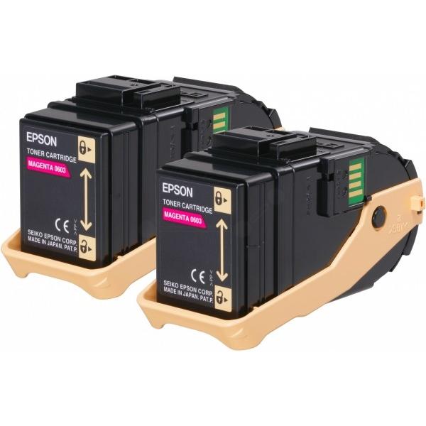Original Epson C13S050607 / 0603 Toner magenta
