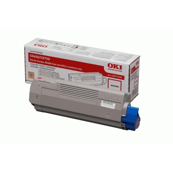 Origineel OKI 43872306 Toner magenta