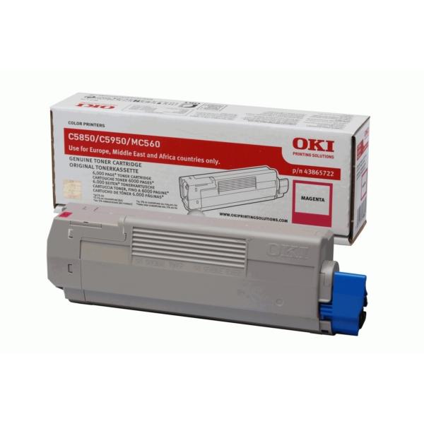 Origineel OKI 43865722 Toner magenta