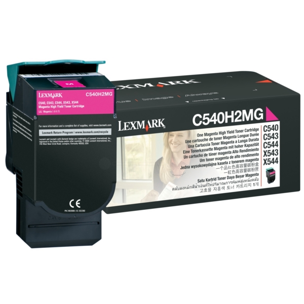 Oryginalny Lexmark C540H2MG Toner magenta
