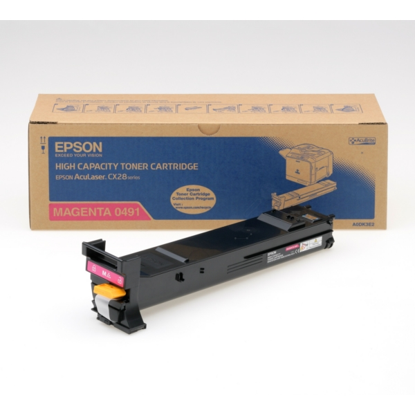 Original Epson C13S050491 / 0491 Toner magenta