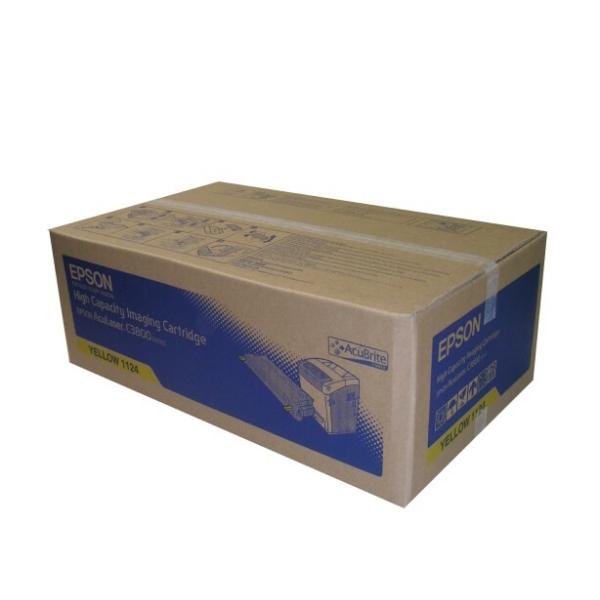 Original Epson C13S051124 / 1124 Toner gelb