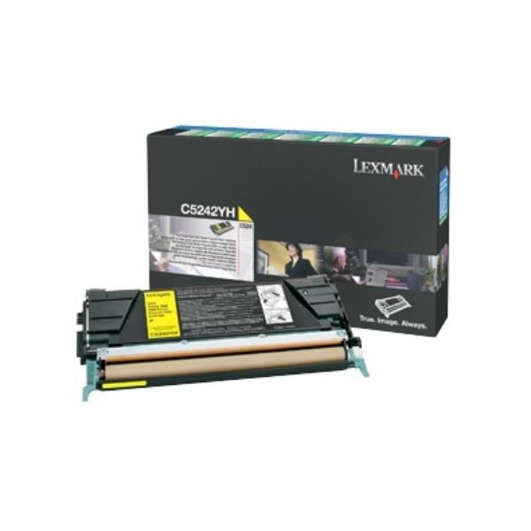 Original Lexmark C5242YH Toner gelb