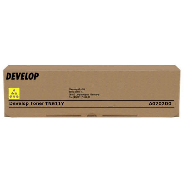 Original Develop A0702D0 / TN611Y Toner gelb