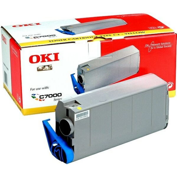 Original OKI 41963005 Toner gelb