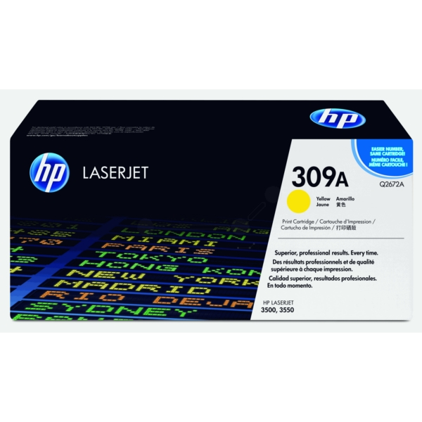Original HP Q2672A / 309A Toner yellow