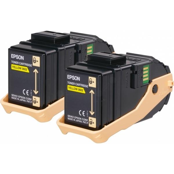 Original Epson C13S050606 / 0602 Toner gelb