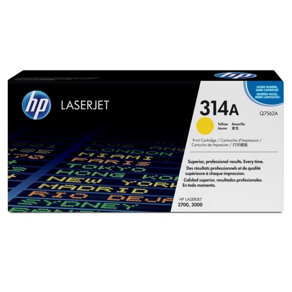 Original HP Q7562A / 314A Toner gelb