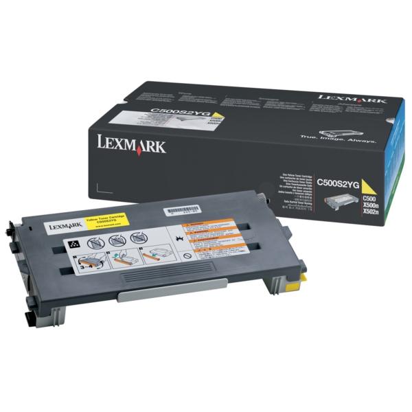 Original Lexmark C500S2YG Toner gelb