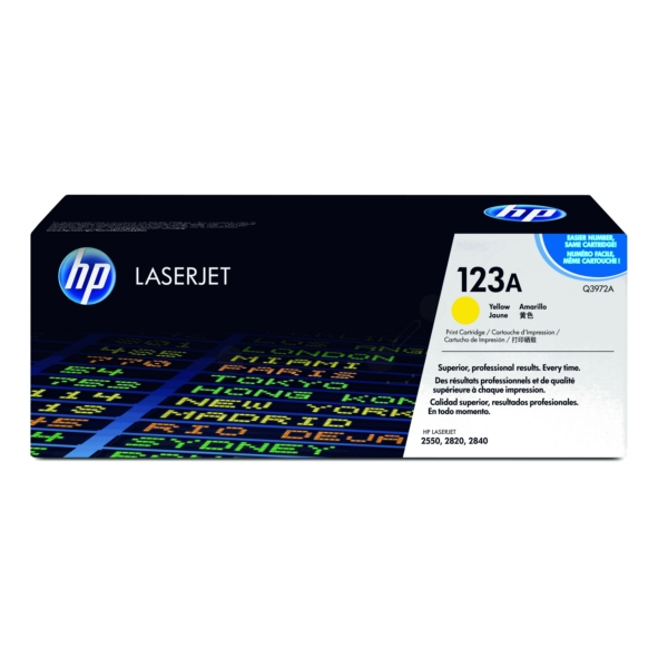 Original HP Q3972A / 123A Toner yellow