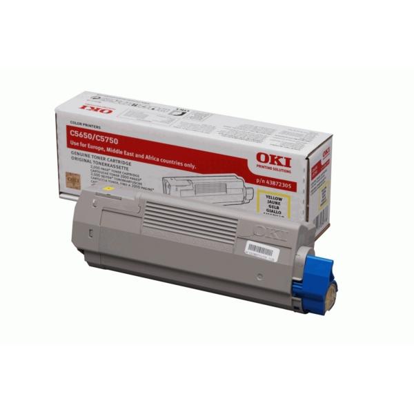 Original OKI 43872305 Toner gelb