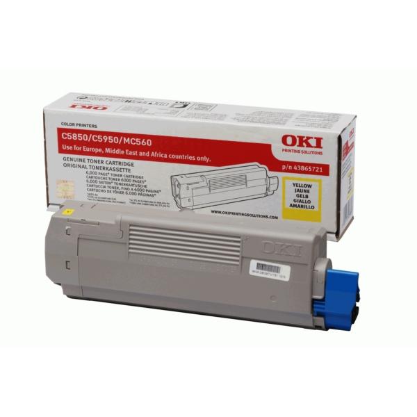 Original OKI 43865721 Toner gelb